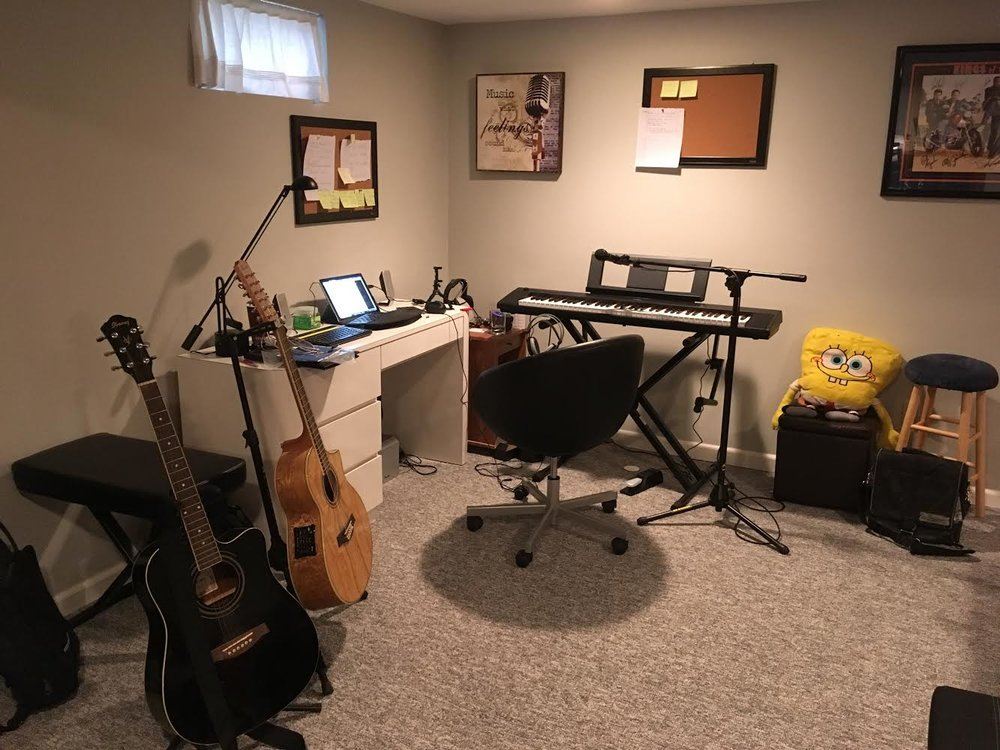 In the basement of my childhood home, I will record a new EP. Just like old times.