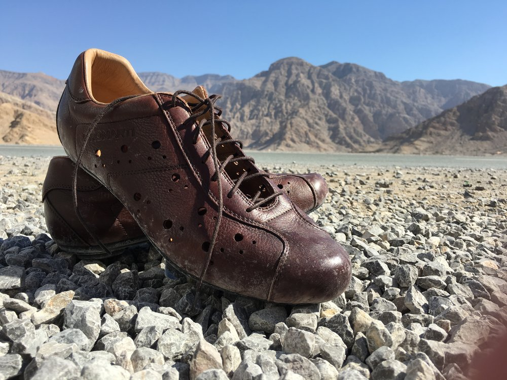 True leather cycling shoes are few and far between