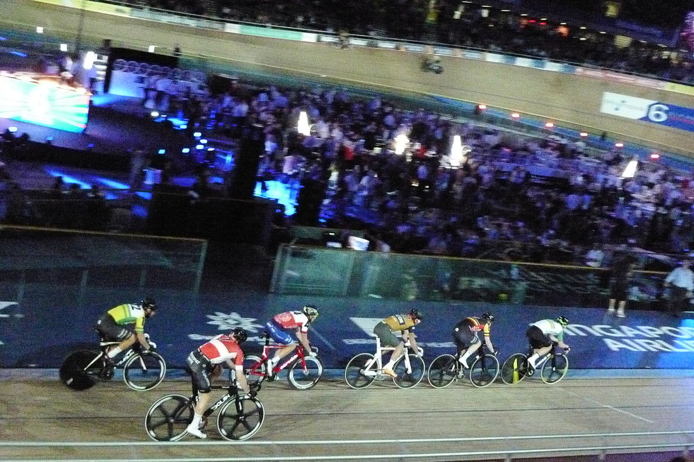 """Adam Blythe, in third place here, describes the Six Day event as """"mental"""""""