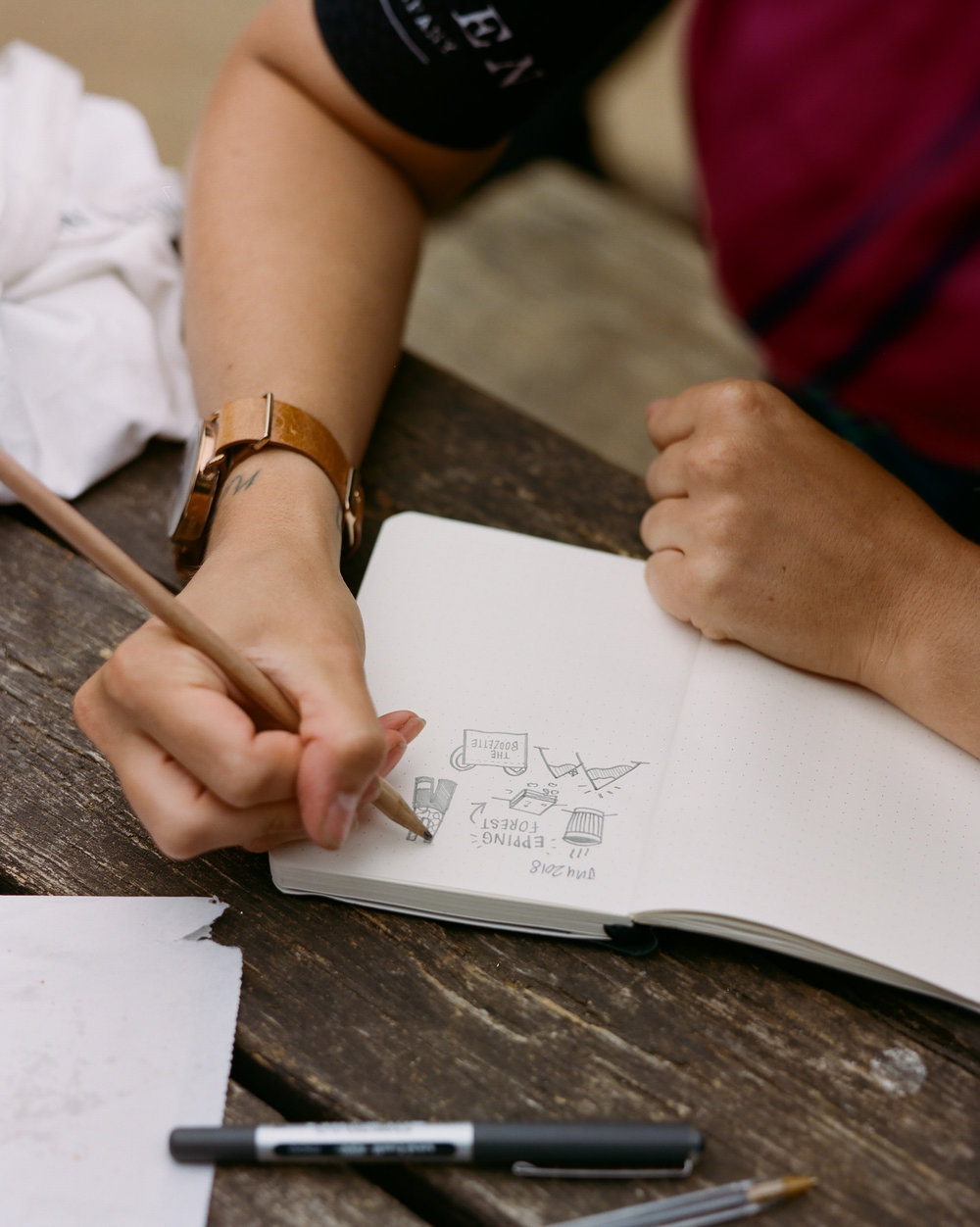 KPP promotes journalling with a leather bound notebook