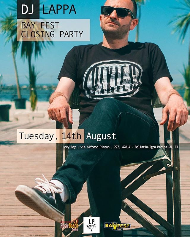 Hey you! I am so stoked to announce I'll perform at @bayfestsummer 2018 closing party.  For the third time in four editions of Bay Fest I'll be djing in front of the sea after the best punk-rock acts on earth. This year Suicidal Tendencies, Bad Religion, Millencolin and many more are going to perform.  Tuesday, August 14th 2018  Bay Fest closing party cdjset @ Beky Bay, Bellaria Igea Marina w/ dj Zigna (Rock Beach Festival)  FREE ENTRY.  #bayfest #bayfest2018 #djset #djs #dj #djlappa #djzigna #pop #indie #rock  #alternative #punk #punkrock #hardcore #anthems #electro #eclectic #qualcosina #qualcosinaparty #bellariaigeamarina #rimini #emiliaromagna #italy #bekybay #spiaggialibera #thestudentbeach #rockbeachfestival #afterfest #freeentry