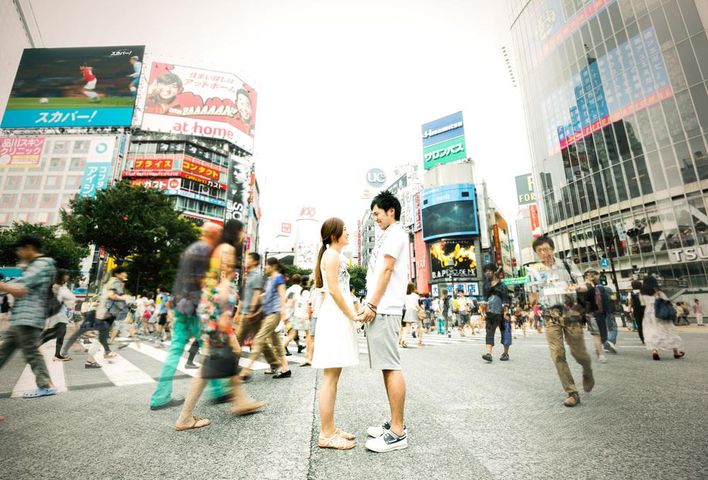 エンゲージメントフォト 渋谷スクランブル交差点