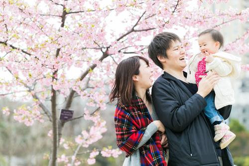 少し早い春の家族写真