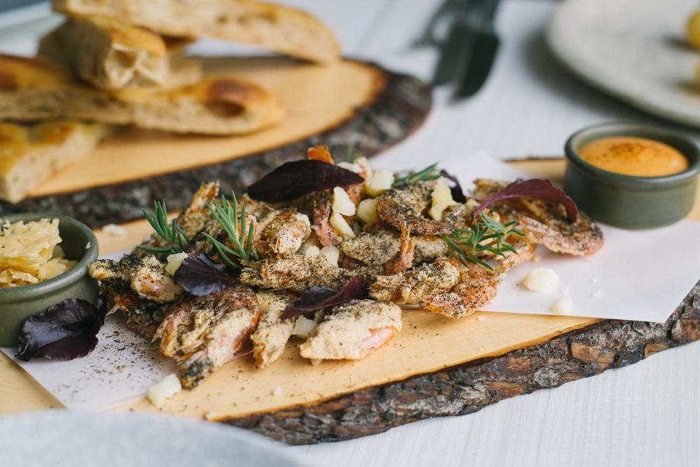 Salt & peppered prawns