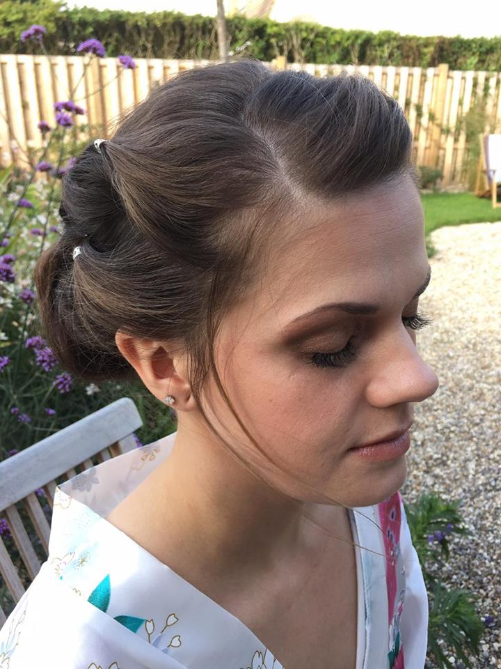 Kate's wedding day hair and make up in Camber Sands