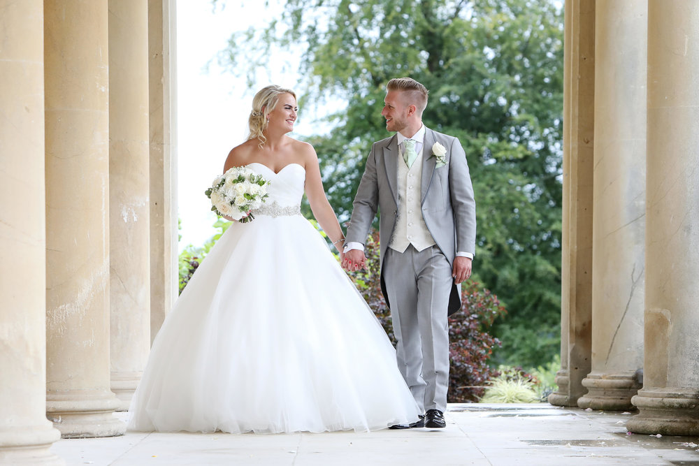Grace's bridal hair and make up by Powder and Pin, photography by Danni Beach at Buxted Park Hotel