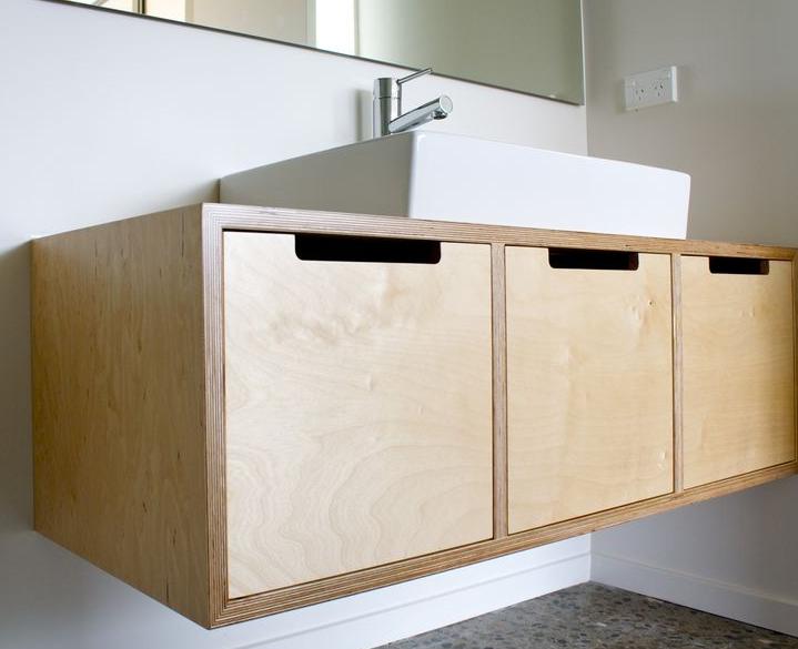 Bathroom vanity unit birch ply