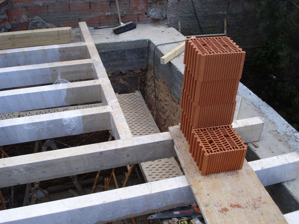 floor beams with stair case opening