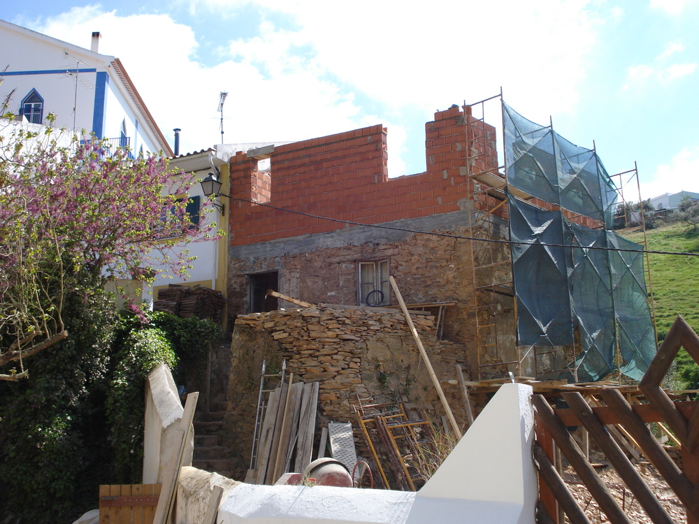 Building up the exterior walls