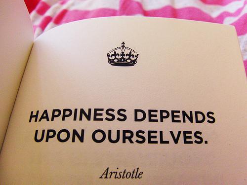 a boldogság rajtunk múlik