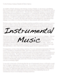 Instrumental Music   A letter from the elders regarding Norway Avenue's position on instrumental music