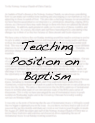 Baptism   Norway Avenue's teaching position on baptism