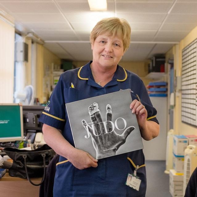 Pam Booth, Macmillan nurse, Wythenshawe Hospital, July 2016