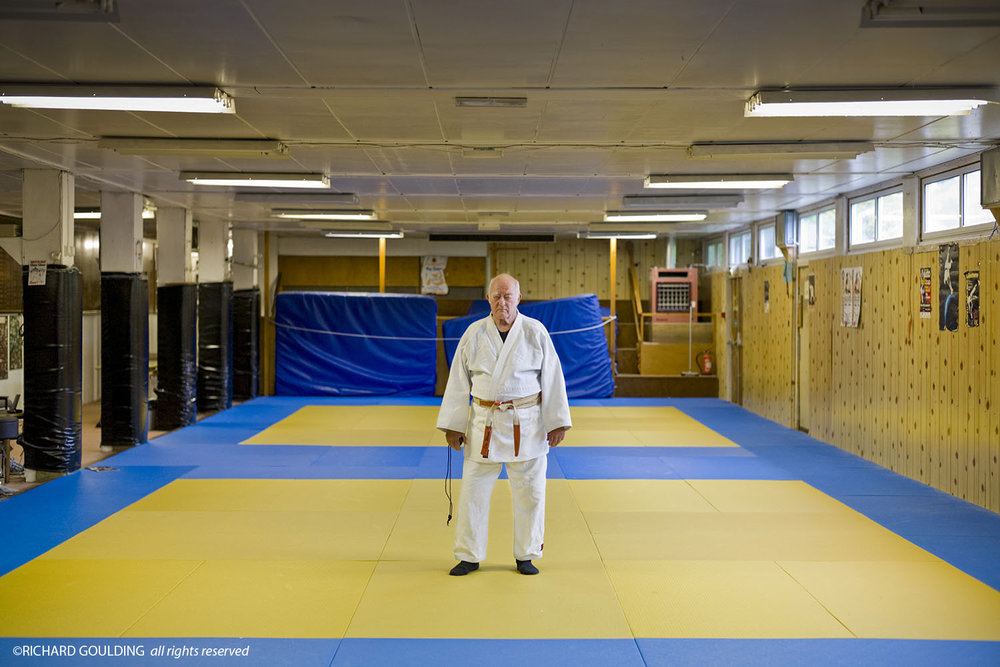 Don Werner, photographed at Pinewood Judo Club, May 2013, ©Richard Goulding