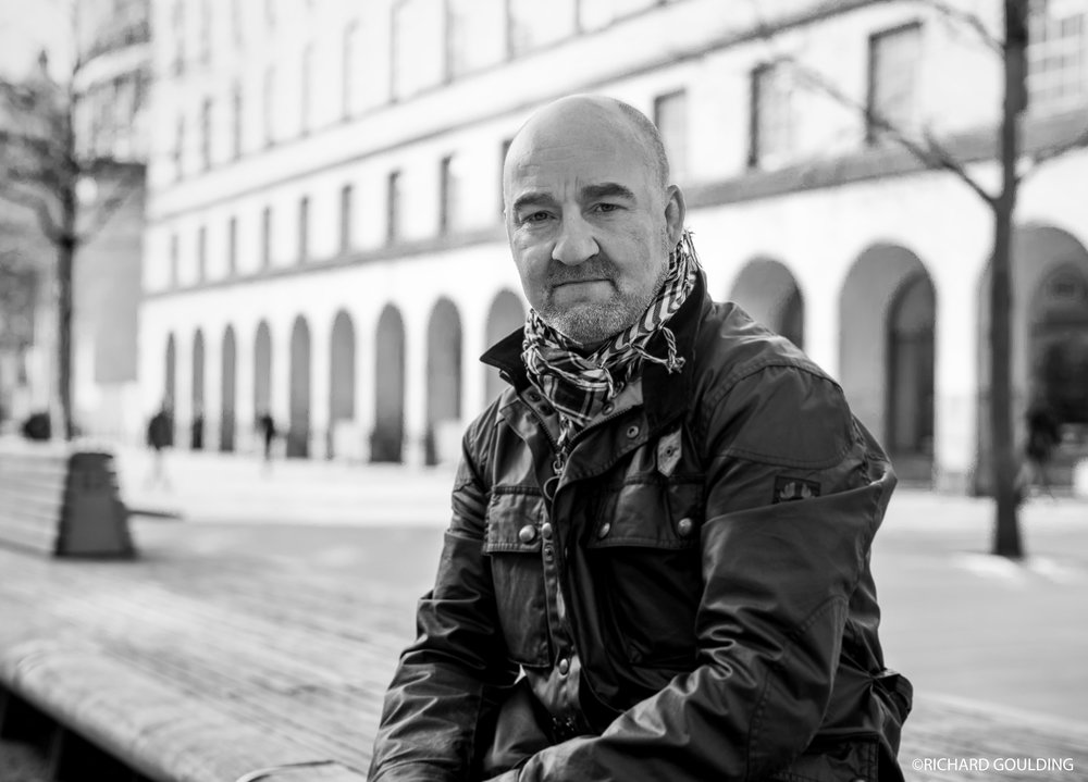 Neil Eckersley, photographed St. Peters Square, Manchester, Feb 2018