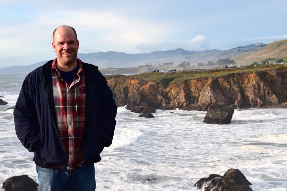 Author Kevin Kurtz on the California Coast