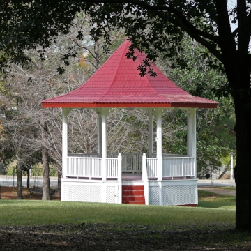 Here's what a gazebo looks like, in case you didn't know.