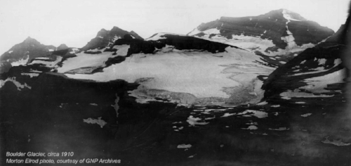 Boulder Glacier in 1910