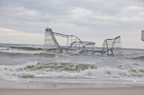 Superstorm Sandy might not have had the power to knock this New Jersey roller coaster into the ocean without an energy boost from global warming.