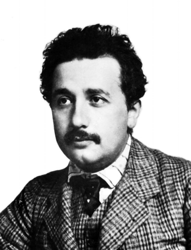 This is what Albert Einstein looked like when he worked at the patent office, which was before his hair became awesome.