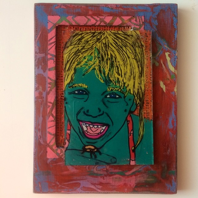 """""""A younger Me"""" Mixed Media - Sold"""