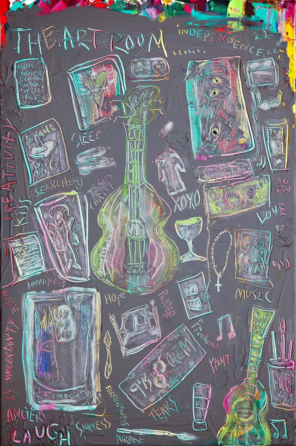 """""""The Art Room"""" - mixed media - $350"""