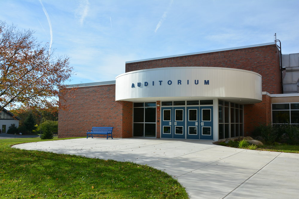 Lansing Middle School New Auditorium Entrance and Expanded Lobby