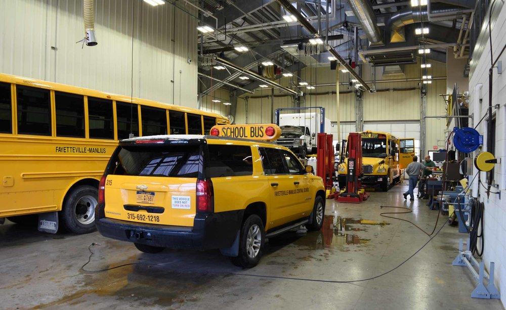 Fayetteville-Manlius Central School District Bus Garage Interior
