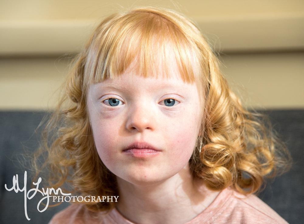 Fine Art Portrait Tween Pre-teen blonde curly hair blue eyes