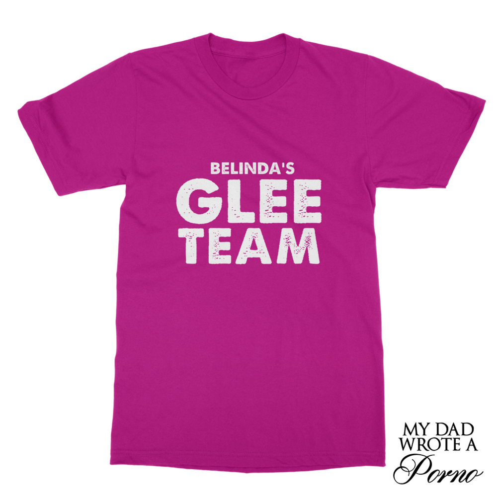 Belinda's Glee Team Tee £22.99 (Available in 10 Colours)