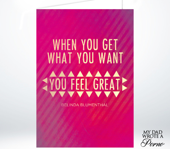 When You Get What You Want Greeting Card £3.49