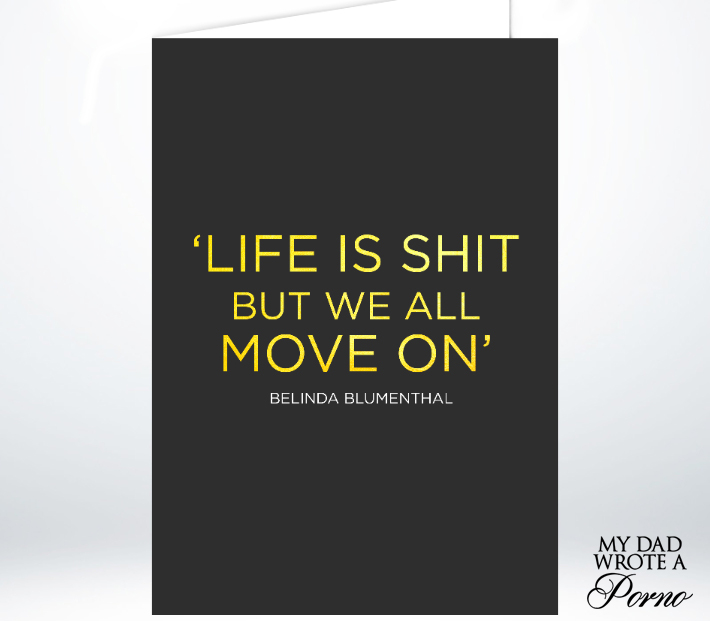 Life is Shit Greeting Card £3.49