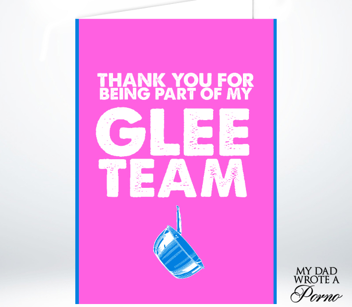 Glee Team Greeting Card £3.49