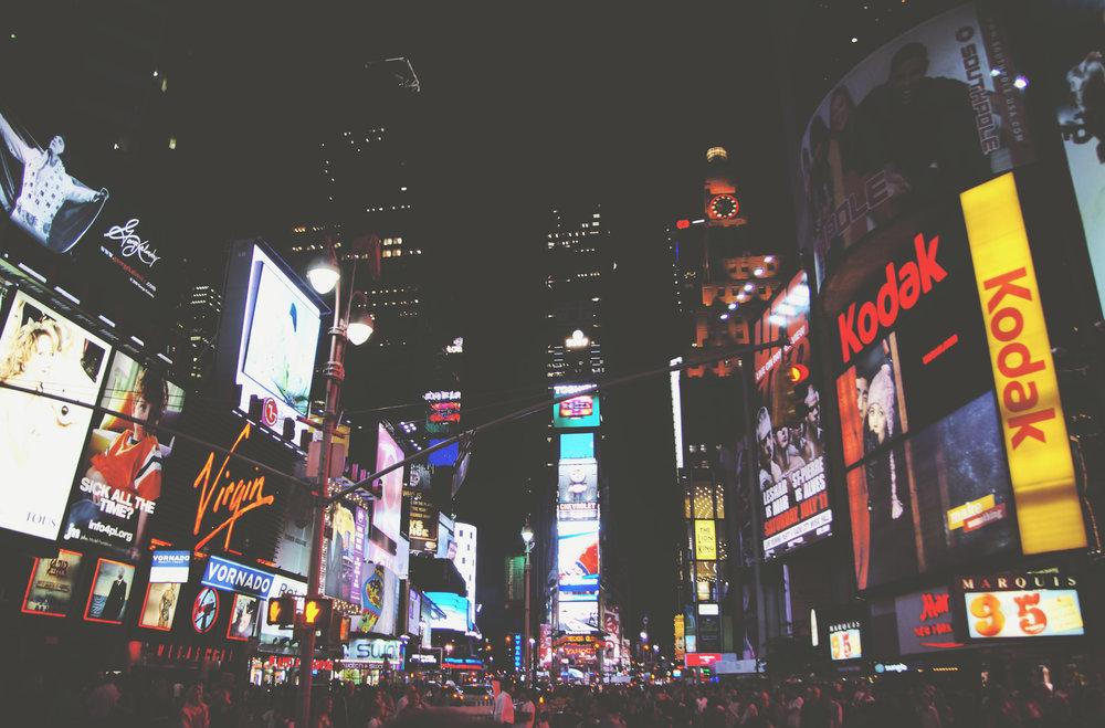 New York Times Square (Marketing Lights Night); Foto: Wojtek Witkowski