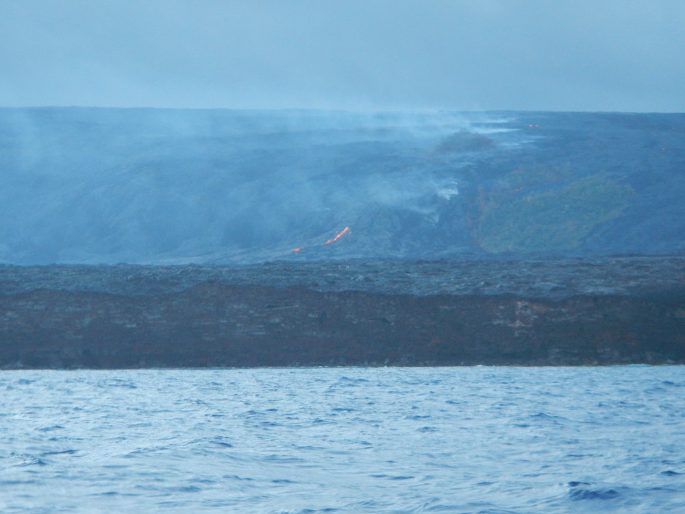 Can you see the little spring of lava?