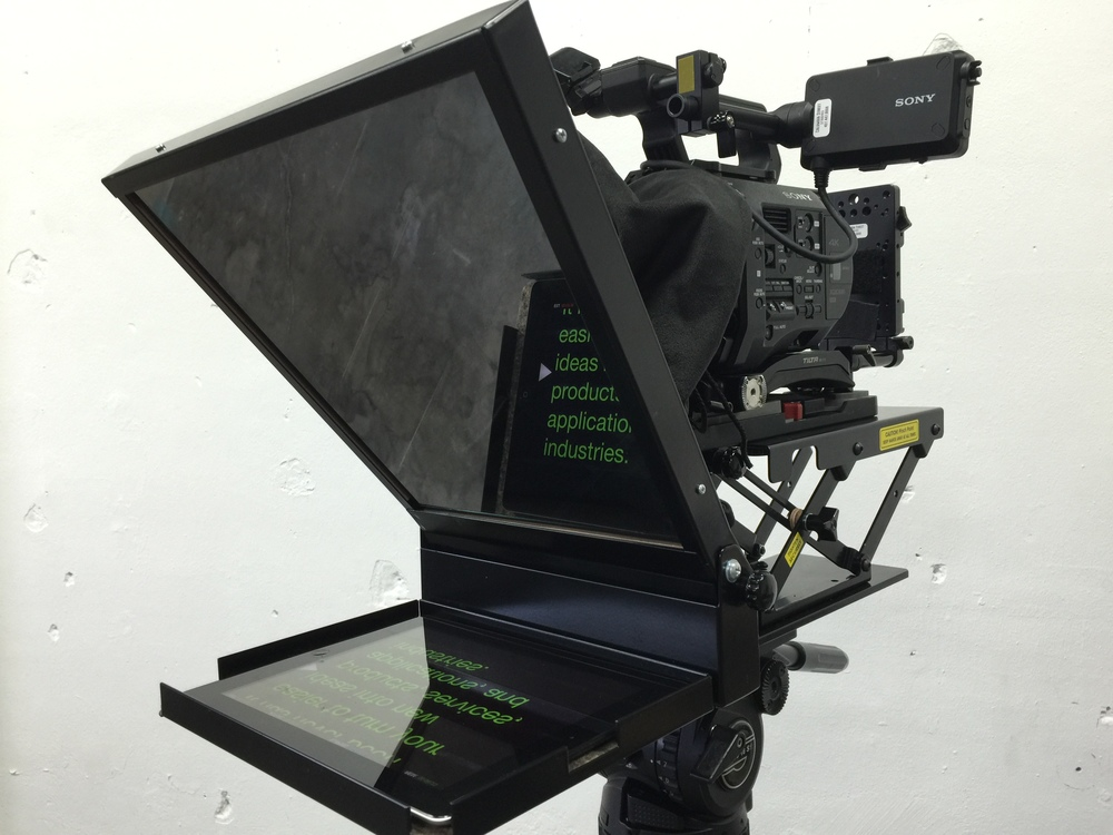 Sony FS7 with ipad teleprompter.