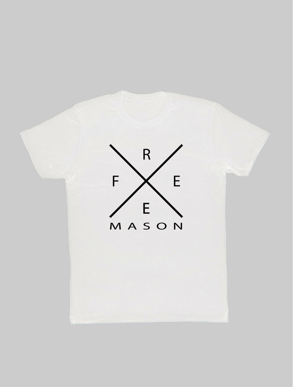 Freemason Cross T-Shirt white.jpg