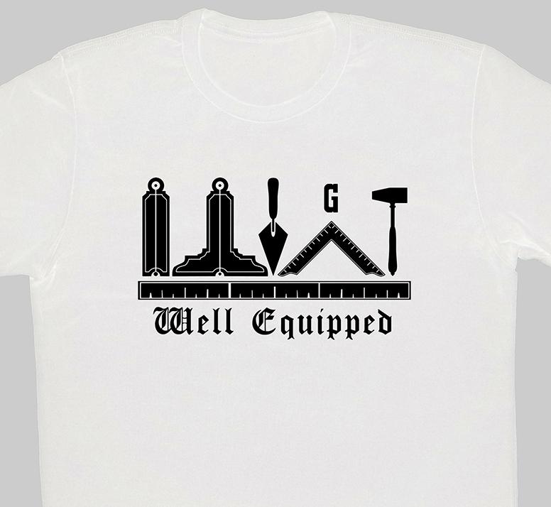 Well Exquipped Freemason T-Shirt white cropped.jpg
