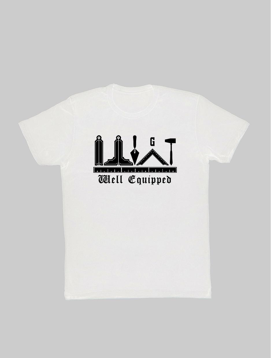 Well Exquipped Freemason T-Shirt white.jpg