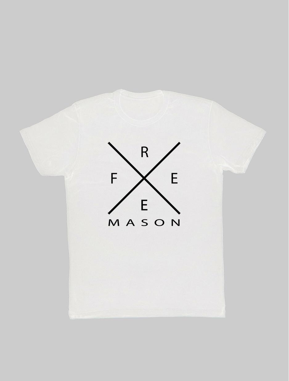 Freemason Cross T-Shirt white.jpg
