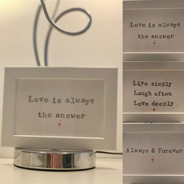 FABULOUS /LOVE VALENTINE GIFTS ♥️♥️♥️ Be Valentine ready with these gorgeous LOVE presentation frames starting from £10 Fabulous @ SoYou Boutique