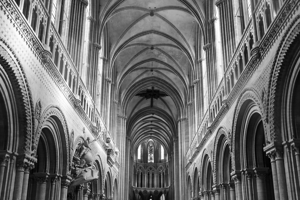 Cathedral interior looking toward the altar
