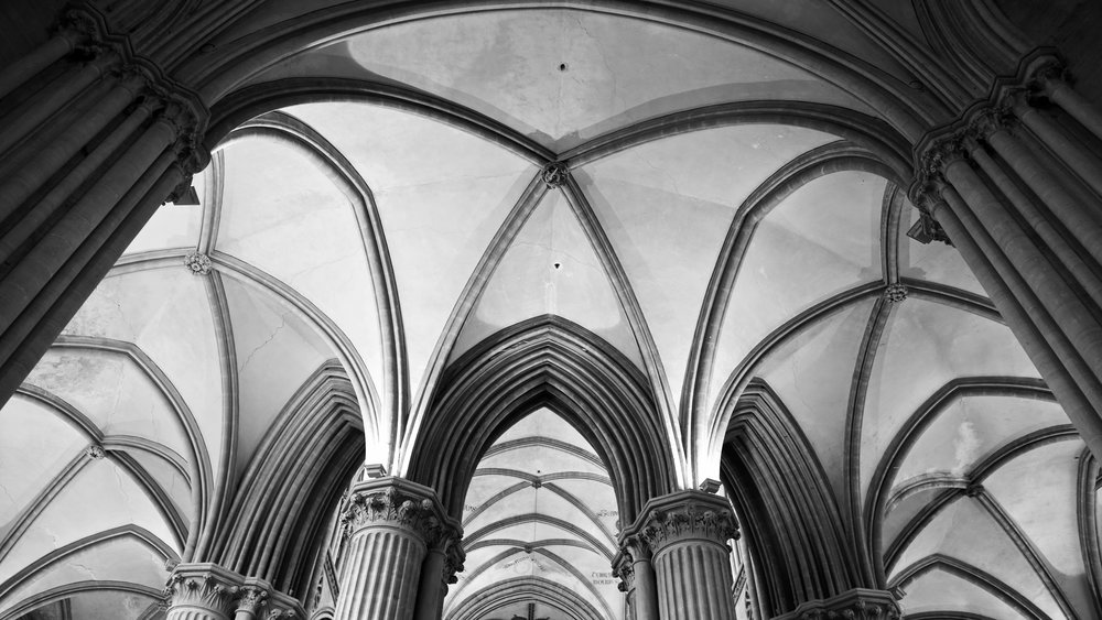 Cathedral vaulted ceiling