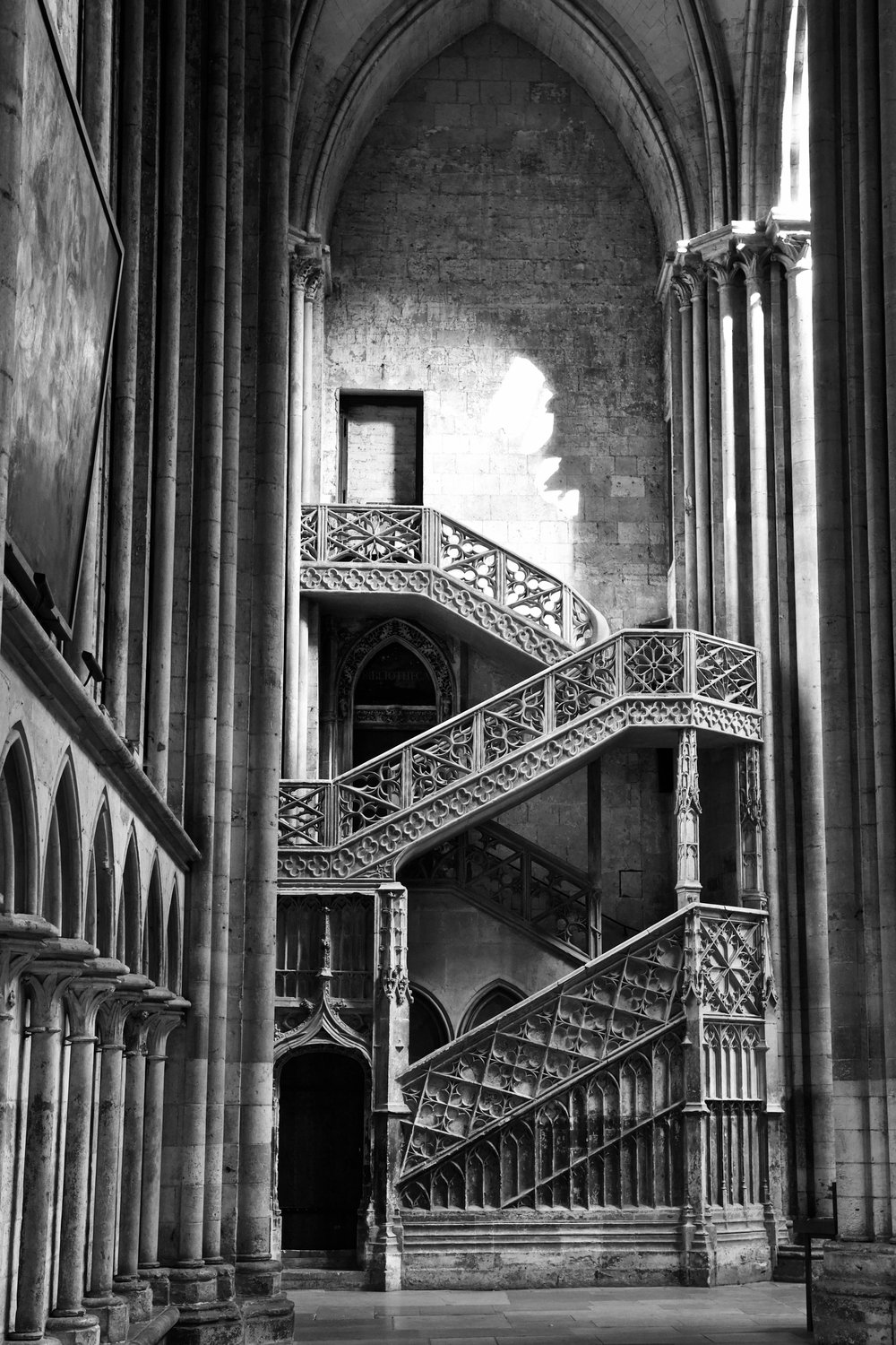 The Booksellers' Stairway - Rouen Cathedral