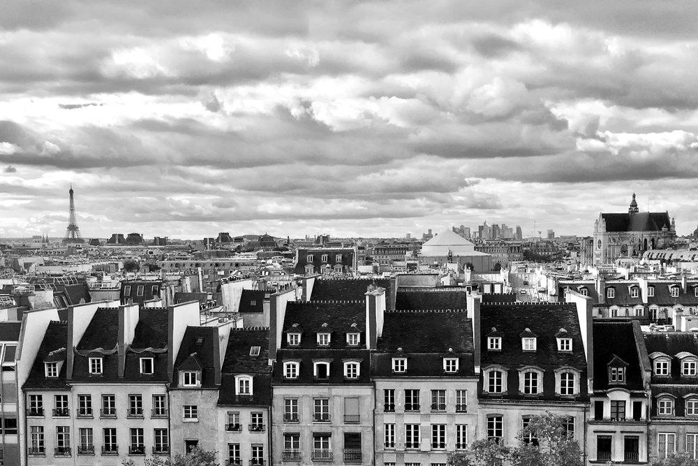 Paris Skyline from the Pompidou Museum