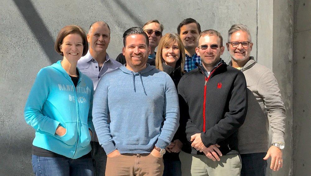 Left to Right: Elizabeth Lopez, Rick Parsons, Anthony Rosas, Rich Crawford, Julie Watson, Sergei Prokhnevskiy, Van Sikes, Jeffrey Watson