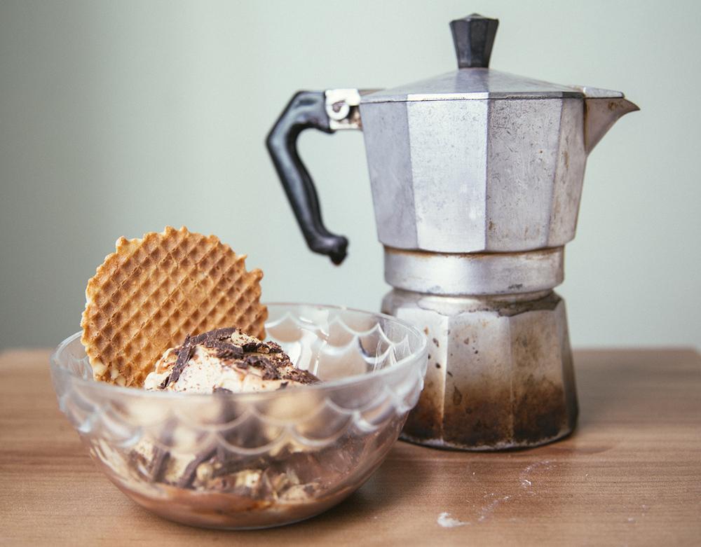 Salted Caramel-Cioccolato Affogato al Caffe