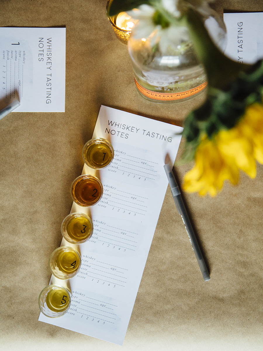 The Ultimate Guide To Hosting A Whiskey Tasting Party (& Free Printable Tasting Note Cards)