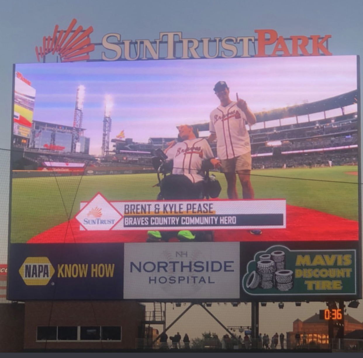 Braves Recognize the Pease Brothers and Launch their New
