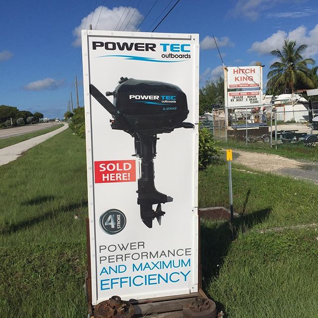 Hitch King is an Authorized PowerTec  Outbound Motor Dealer.  Great prices, 2yr warrantee, Financing Avail. #KeyWest